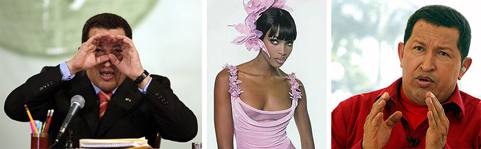 Naomi Campbell amoureuse du président Hugo Chavez ...