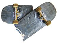 skateboard cassé