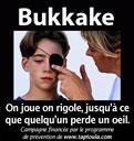 Le bukkake ne doit pas être réalisé sans précaution !