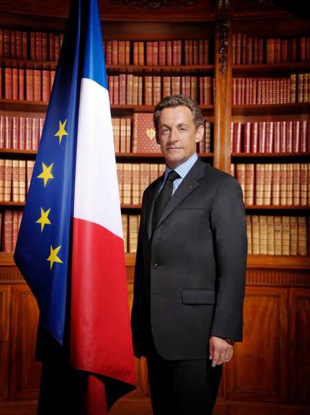 la photo officielle de Nicolas Sarkozy le président de la République
