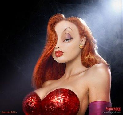 La belle Jessica Rabbit (http://pixeloo.blogspot.com/)