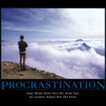 Procrastination is not a crime
